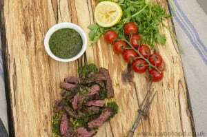 skirt steak with chimichurri dressing