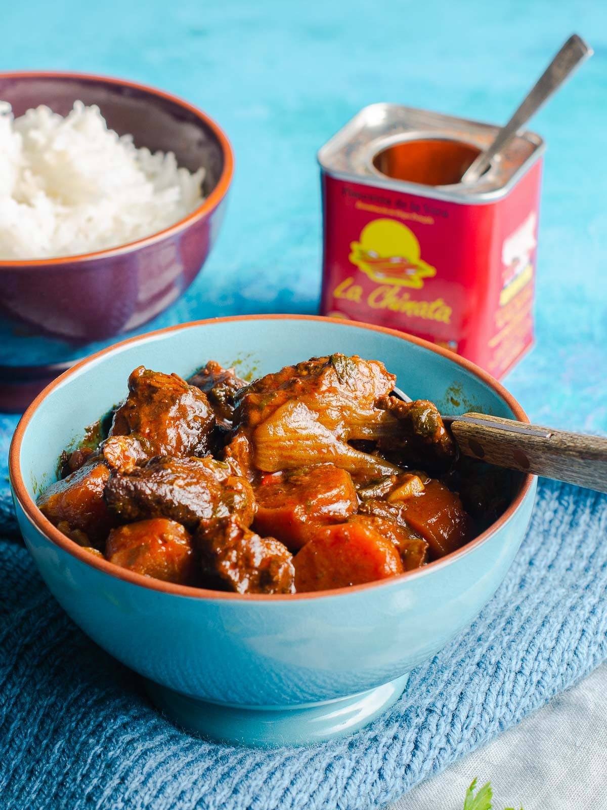 A warming bowl of slow cooke paprika beef from Lost in Food.
